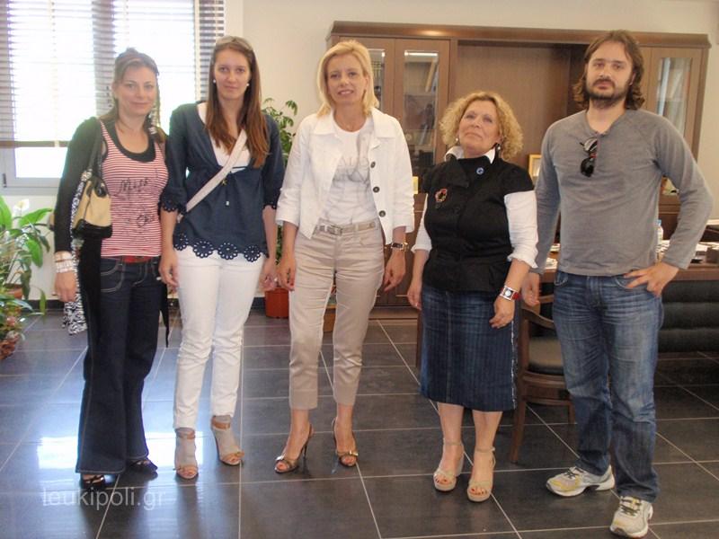 Συνάντησαν την Καραλαριώτου εκπρόσωποι του Artfools Video Festival