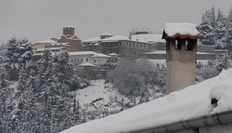 Ντύθηκε στα λευκά η Επαρχία Ελασσόνας – Το χιόνι του Φλεβάρη