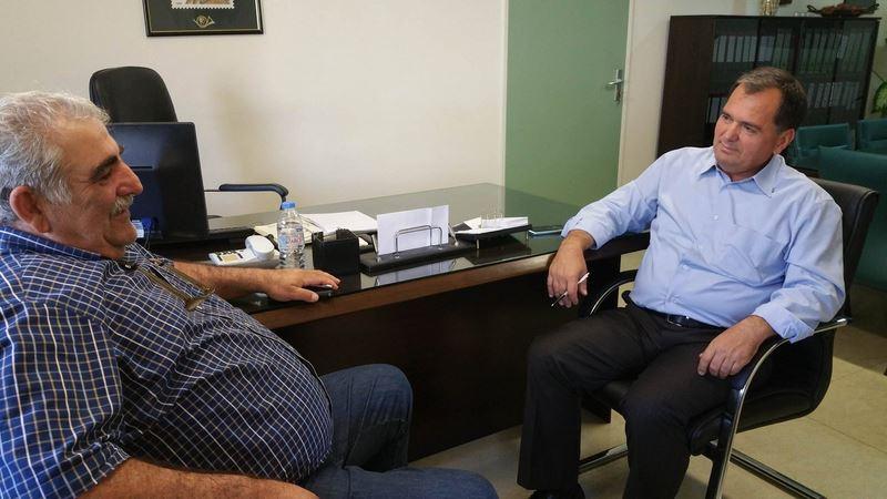 Με το διοικητή του Π.Ν.Λ. συναντήθηκε ο βουλευτής Νικ. Παπαδόπουλος