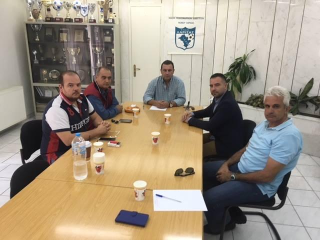 Συνάντηση Κατσιαντώνη με μέλη της διοίκησης της Ε.Π.Σ.Λ.