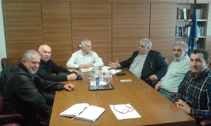 Συνάντηση Ν. Παπαδόπουλου, κτηνοτρόφων και Καλφούντζου με Γ. Τσιρώνη