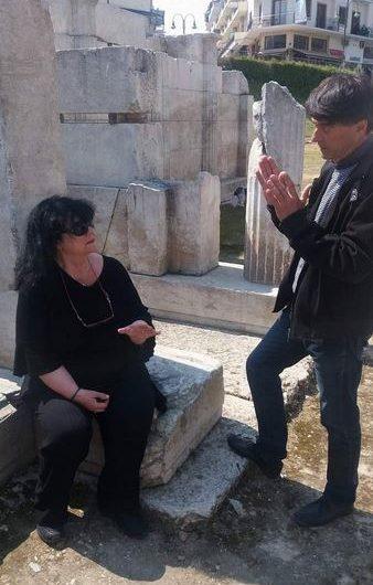 Α. Βαγενά: Επίσκεψη στο Αρχαίο Θέατρο της Λάρισας και ενημέρωση για την πορεία του έργου