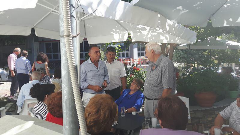 Την Κρανέα Ελασσόνας επισκέφτηκε ο βουλευτής της ΝΔ Χρ. Κέλλας