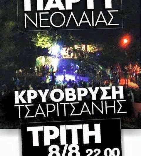 Πάρτι νεολαίας στην Τσαριτσάνη