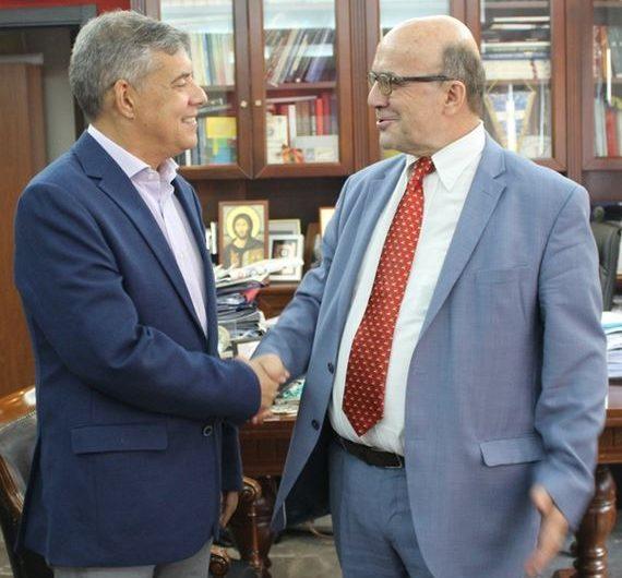 Συνάντηση Αγοραστού με τον απερχόμενο Πρόεδρο του ΤΕΙ Θεσσαλίας