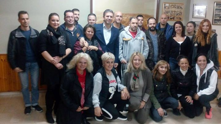 Συνάντηση Θανάση Παιδή με εθελοντές του Ερυθρού Σταυρού