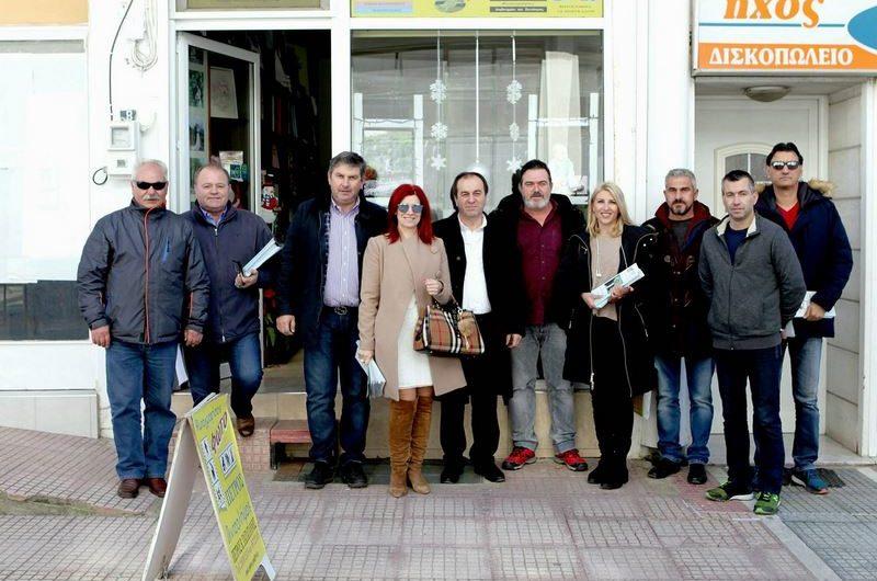 Επίσκεψη στην Ελασσόνα του υποψηφίου στο Επιμελητήριο Σωτ. Γιαννακόπουλου