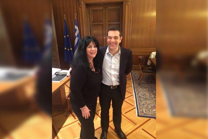 Συνάντηση με τον Αλέξη Τσίπρα είχε η βουλευτής Άννα Βαγενά με αφορμή αφιέρωμα στο Λουκιανό