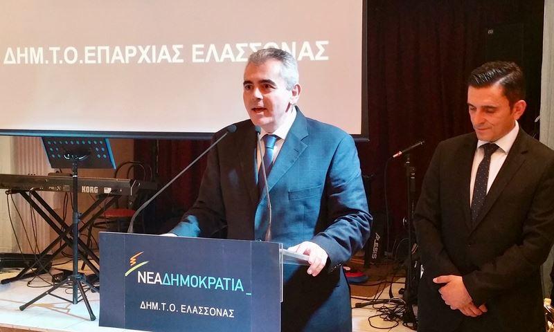 Χαρακόπουλος με Καραμανλή στην Ελασσόνα: Απαράδεκτες οι παρεμβάσεις στη δικαιοσύνη