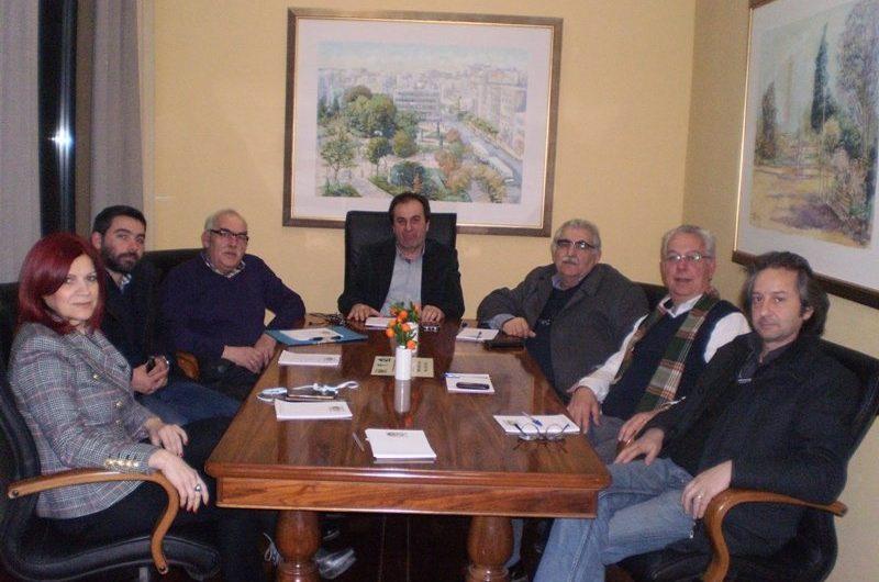 Επίσκεψη του ΣΥΡΙΖΑ στο νέο πρόεδρο του Επιμελητηρίου Λάρισας Σωτ. Γιαννακόπουλο