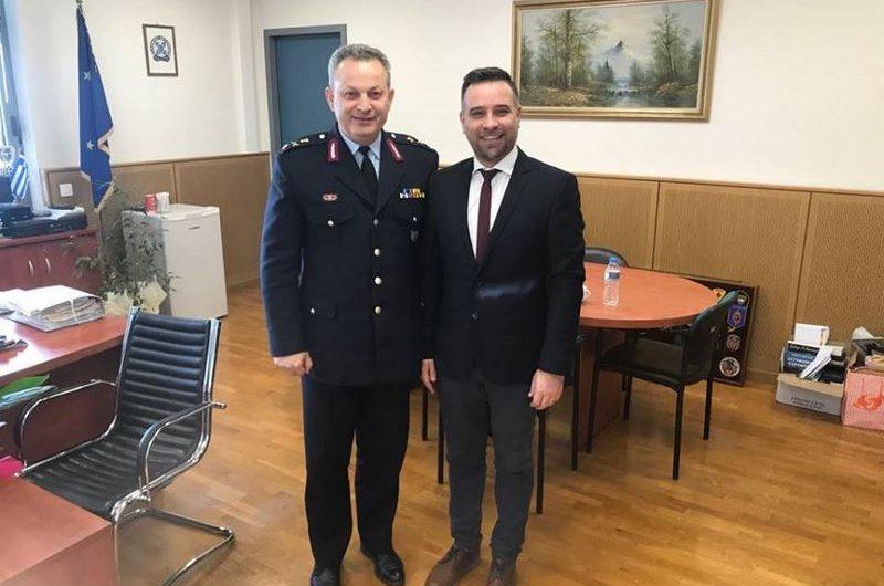 Επίσκεψη στη νέα ηγεσία της Ελληνικής Αστυνομίας Λάρισας πραγματοποίησε ο Γ. Κατσιαντώνης