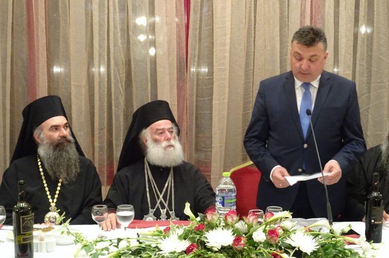 Τον Πατριάρχη Αλεξανδρείας και πάσης Αφρικής κκ. Θεόδωρο προσφώνησε ο δήμαρχος Ελασσόνας Ν. Ευαγγέλου