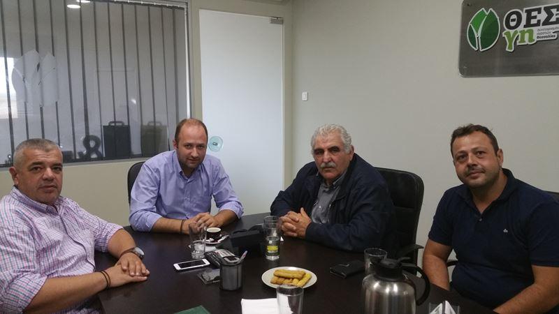Επίσκεψη του βουλευτή Ν. Παπαδόπουλου στο Συνεταιρισμό Αγροτών Θεσσαλίας ΘΕΣΓΗ