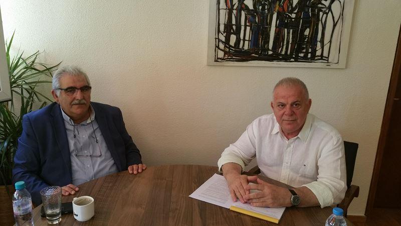 Συνάντηση του βουλευτή Ν. Παπαδόπουλου με τον πρύτανη του ΤΕΙ Θεσσαλίας