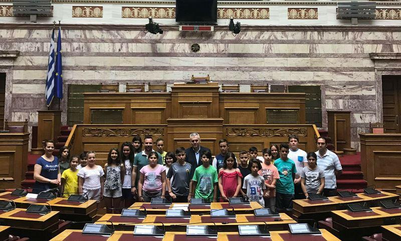 Με Κατσιαντώνη στη Βουλή το 3ο Δημοτικό Σχολείο Ελασσόνας