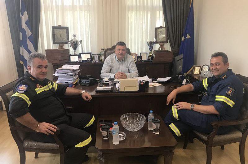Συνάντηση Ν. Ευαγγέλου με νέο Διοικητή Π.Υ. Λάρισας Ζ. Μπρούζα