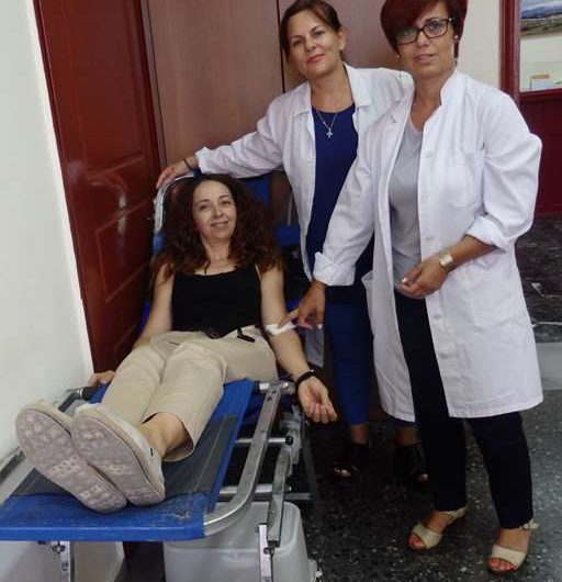 Έδωσαν αίμα στην Ελασσόνα για τους πυρόπληκτους της Αττικής