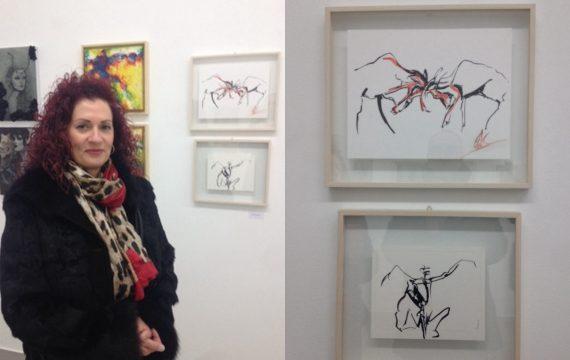 Στην ομαδική έκθεση «minisize» στη Λάρισα συμμετέχει η ζωγράφος Λιάνα Κρανιώτου