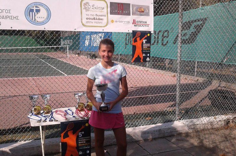 Πρωτιά Μ. Κίτση στο πανελλήνιο πρωτάθλημα τένις